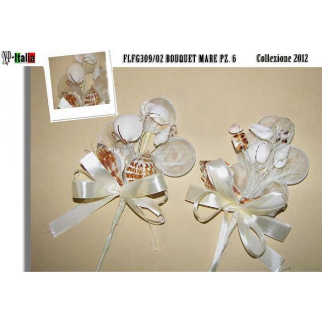 BOUQUET CONCHIGLIA MARE GRANDE STOCK 18 PZ
