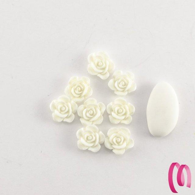 Rosellina in acrilico Piccola bianca