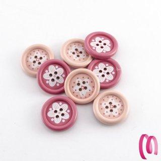 Bottone in legno Grande sfumato Rosa