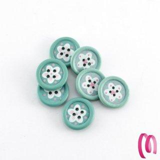 Bottone in legno piccolo colore Acqua