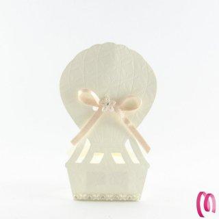 Portaconfetti mongolfiera avorio 10 pezzi