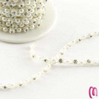 Bobina strass con perla 10 metri