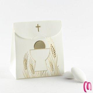 Portaconfetti sacchetto croce 10 pezzi