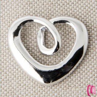 Cuore anello in metallo