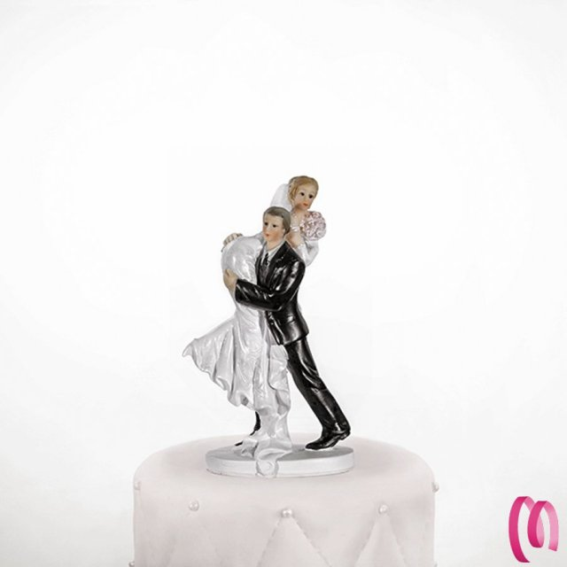 cake topper sposa in spalla