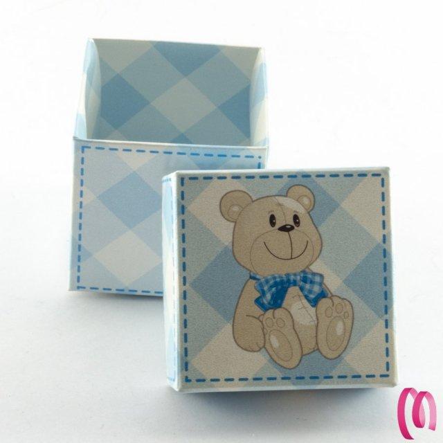 Scatola Portaconfetti cubo Orsetto