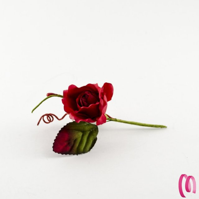 Rosa con foglia confezione da 12 pezzi