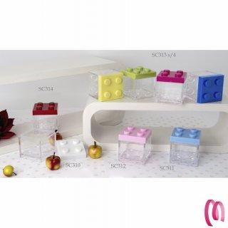 Cubo Lego portaconfetti confezione da 12 pezzi