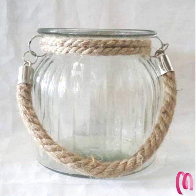 Decorazione lanterna vetro 1 pezzo