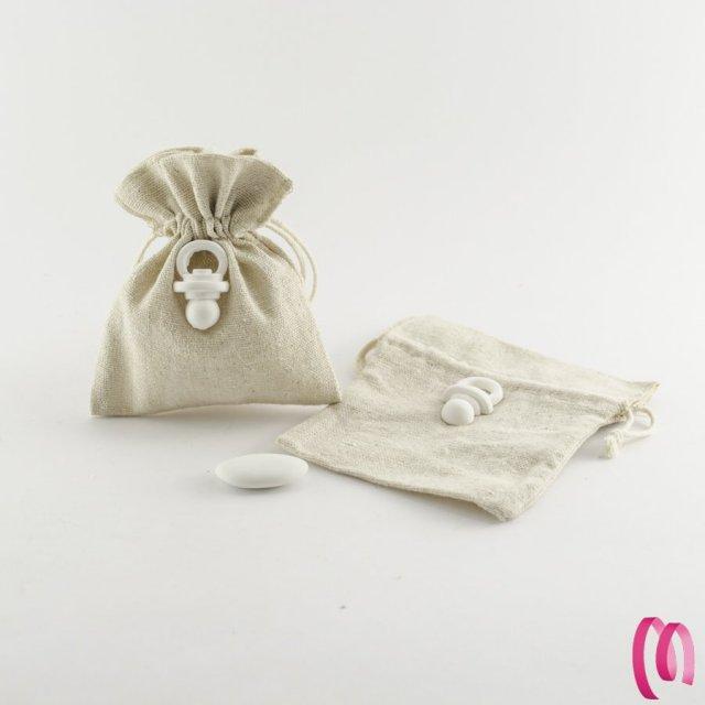 Sacchetto portaconfetti ciuccio conf.10 pezzi