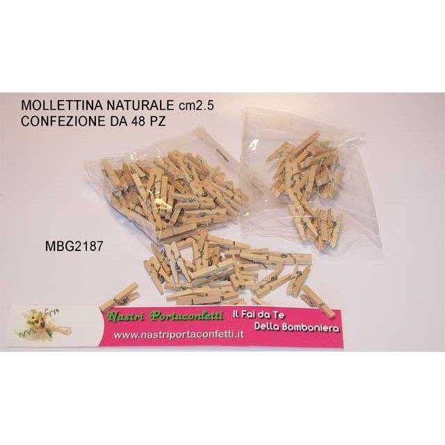 Mollettina mini naturale 48 pezzi