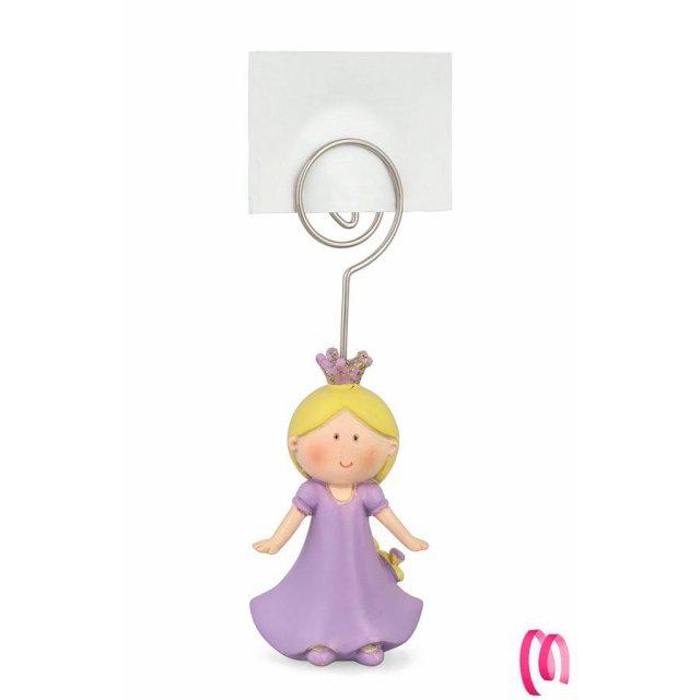 Bomboniera principessa memoclip 6 pezzi
