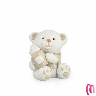 Bomboniera baby orsetto in resina 12 pezzi