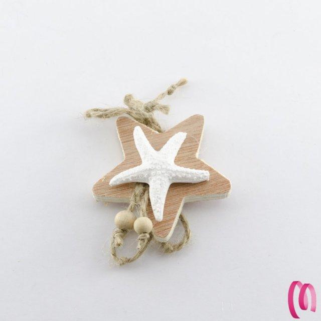 Decorazione stella marina legno e gesso