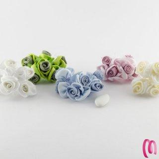 Fiore in raso e tela 72 pezzi