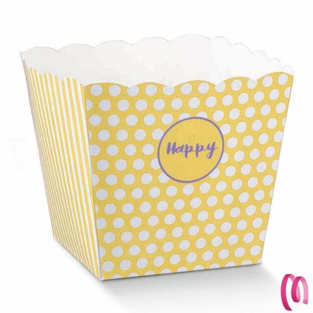 Vaso Maxi HAPPY per Confettate e Dolciumi