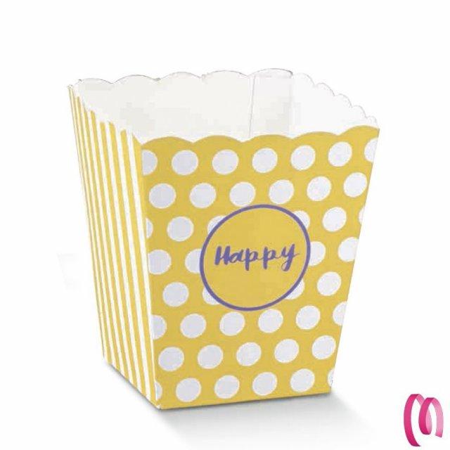 Vaso piccolo HAPPY per Confettate e Dolciumi