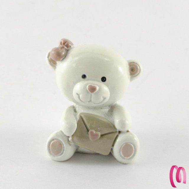 Bomboniera baby orsetto rosa