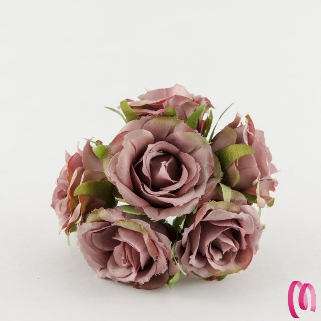 Rosa in tessuto grande Rosa Antico 10 pz