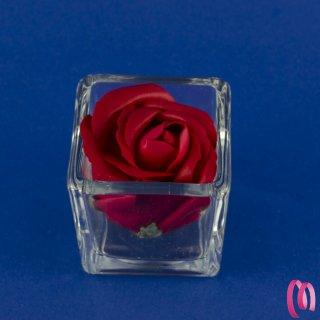 Bomboniera Rosa Rossa Con Vasetto