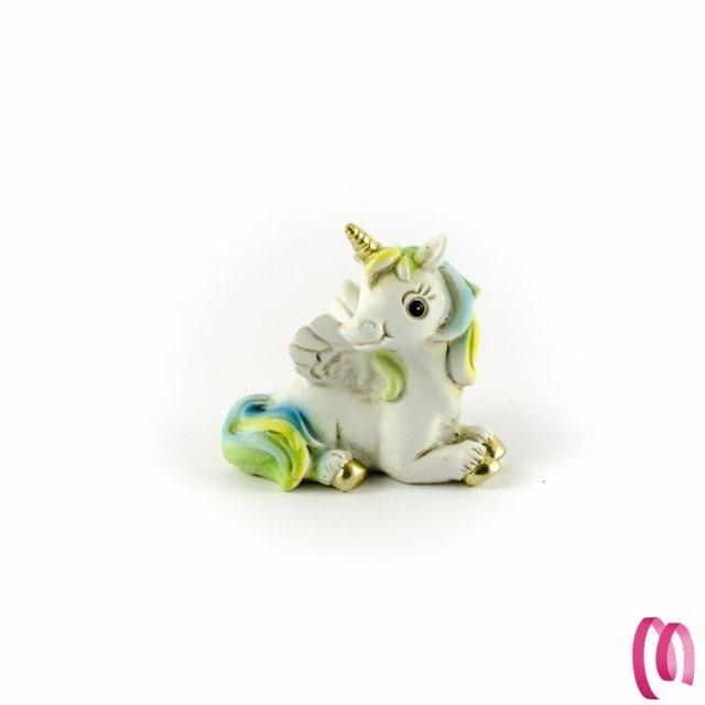 Bomboniera Unicorno Alato Azzurro