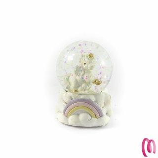 Palla Di Neve Con Unicorno Rosa