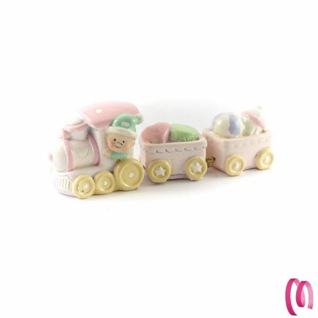 Bomboniera Treno Rosa
