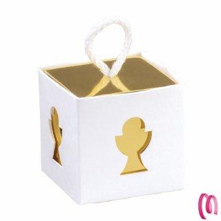 Bomboniera Portaconfetti Scatolina Calice Oro Prima Comunione per Maschi o Bambina