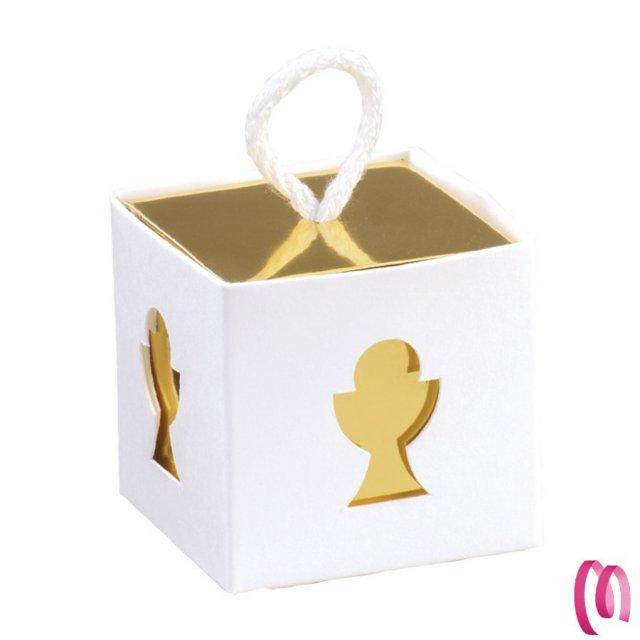 Bomboniera Portaconfetti Scatolina Calice Oro