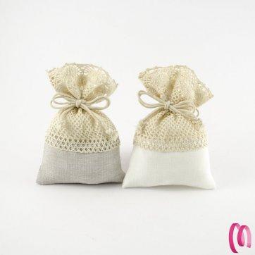 Cuscino cuore portaconfetti conf. da 6 pezzi