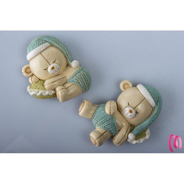 Bomboniera Magnete Orso Baby Addormentato Maschio