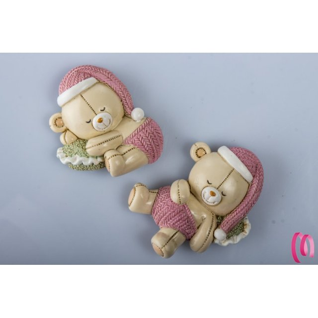Bomboniera Magnete Orso Baby Addormentato Bambina