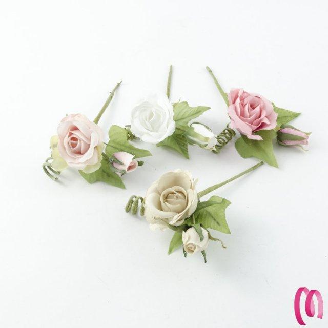 Fiore Rosa E Bocciolo 10PZ