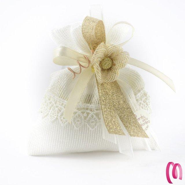 Scatola portaconfetti con fiore confezione 10 pezzi