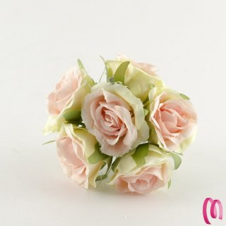 Rosa in tessuto grande Cipria 10 pz