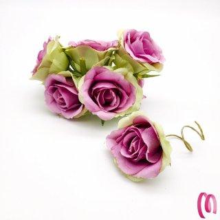 Rosa in tessuto grande Rosa 10 pz