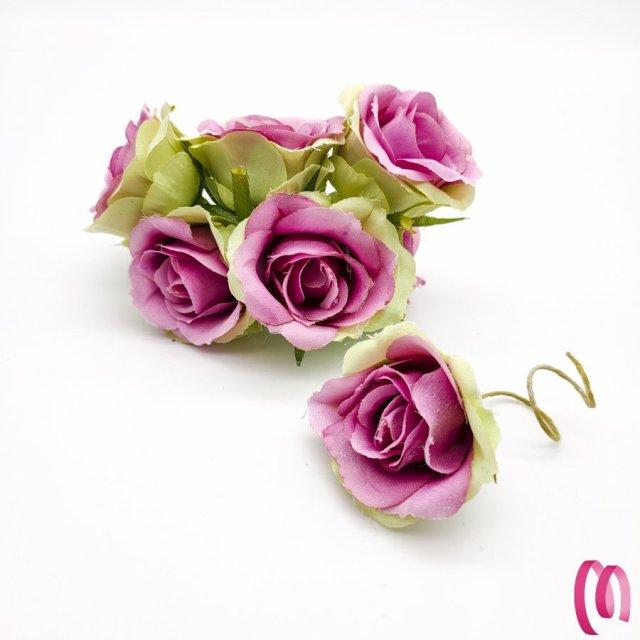 Rosa in tessuto grande  10pz