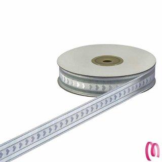 Nastro decorativo Organza e Raso Altezza 15 mm per 25 Metri