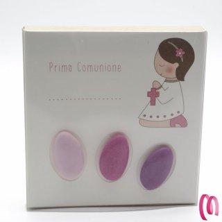 Bomboniera Porta confetti Prima Comunione 3 confetti rosa