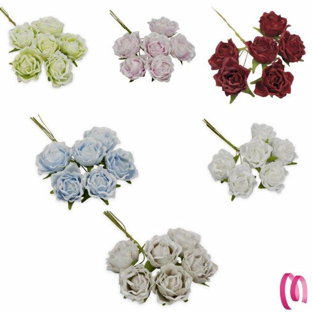 Fiore per bomboniere rosellina sfumata 36 pezzi