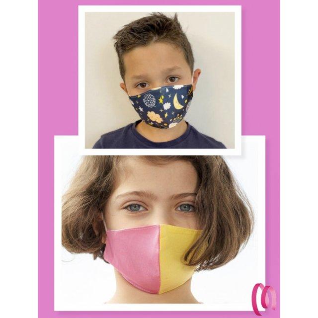 Mascherina in tessuto Lavabile 3 strati Per Bambino