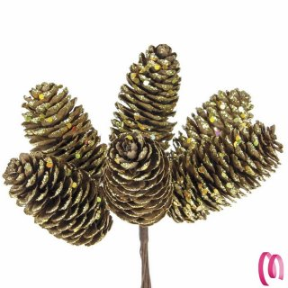 Pigna Grande Natalizia per decorazione Bomboniera o Regalo pezzi 6
