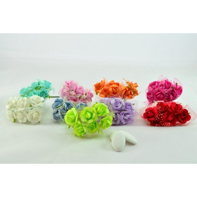 ROSELLINA CON TULLE POIS 72 PZ